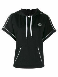 DKNY hooded short sleeve sweatshirt - Black