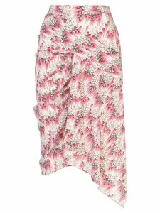 Isabel Marant printed gathered detail skirt