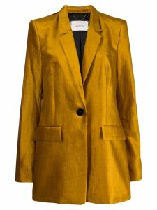 Dorothee Schumacher fitted single-breasted blazer - Yellow