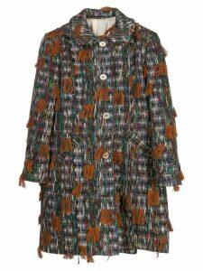 Golden Goose melange knitted coat - Grey