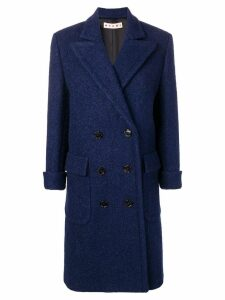 Marni long pea coat - Blue