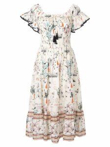 Tory Burch floral midi dress - Neutrals