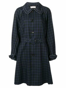 Marni check trench coat - Black