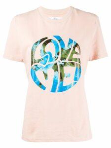 Alberta Ferretti Love me! stamped design T-shirt - Pink