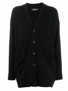 Dsquared2 black oversized fit cardigan