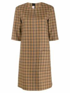 Marni plaid shirt dress - Neutrals