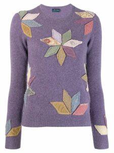Polo Ralph Lauren appliqué petals top - Purple