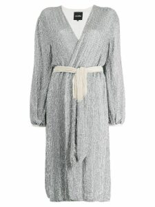 Retrofete sequin wrap dress - Silver