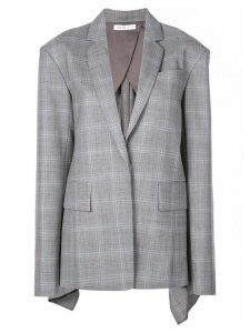 Adeam check oversized blazer - Grey