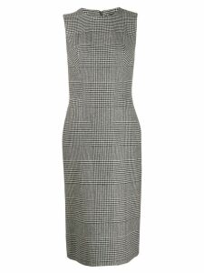 Ermanno Scervino fitted plaid dress - Black