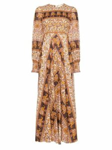 Zimmermann Suraya elephant-paisley maxi dress - Brown