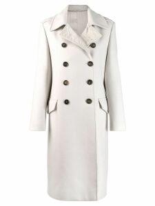 Brunello Cucinelli double breasted coat - Grey