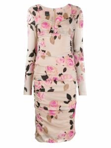 Pinko fitted floral dress - Neutrals