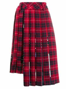 Iceberg check pleated skirt - Red