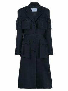 Prada military midi coat - Blue