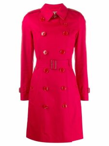 Burberry gabardine trench coat - Red