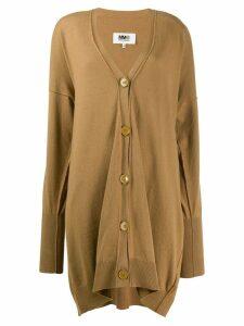 Mm6 Maison Margiela long cardigan - Brown