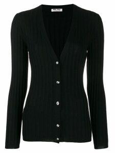 Miu Miu ribbed knitted cardigan - Black