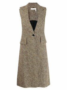 Chloé sleeveless coat - Brown