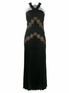 Fendi lace insert midi dress - Black