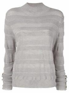 Aje striped blouse - Grey
