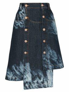 Delada asymmetric tie-dye skirt - Blue