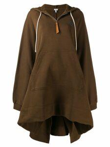 Loewe oversized logo hoodie - Brown