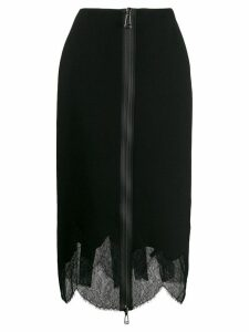 Fendi layered zip pencil skirt - Black