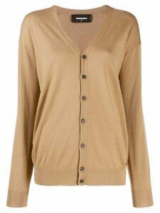 Dsquared2 V-neck cardigan - Brown