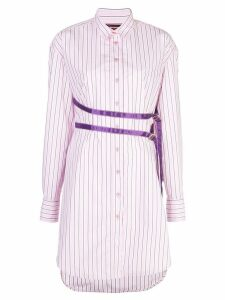 Sies Marjan striped shirt dress - Pink