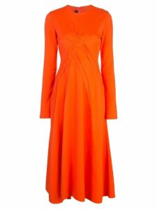 Sies Marjan cross stitch detail dress - Orange