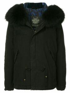 Mr & Mrs Italy fur hood parka - Black