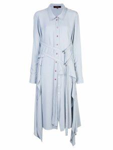 Sies Marjan shawl shirt dress - Blue