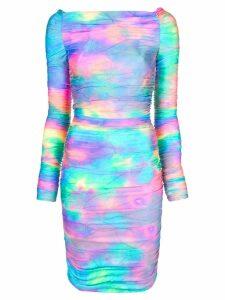Sies Marjan Jolene glitter tie-dye mini dress - Multicolour