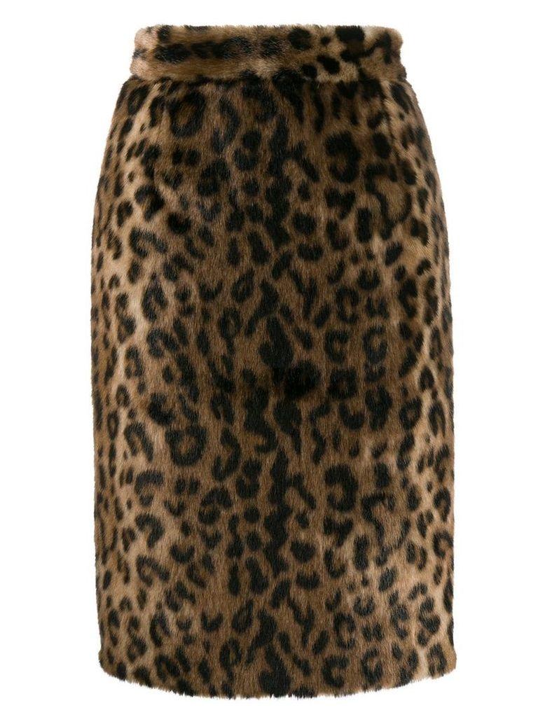 Nº21 leopard pattern skirt - Brown
