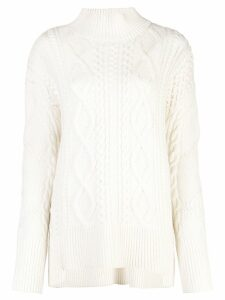 Proenza Schouler Cable Knit Turtleneck - White