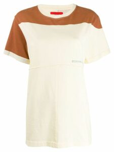 Eckhaus Latta lapped short sleeved T-shirt - Yellow