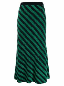 Christian Wijnants long striped skirt - Green