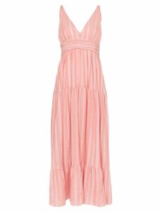 Lemlem Taytu plunge-neck striped sundress - PINK