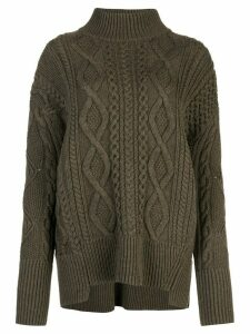 Proenza Schouler Cable Knit Turtleneck - Green