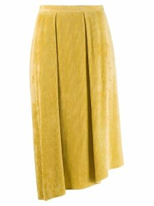 Isabel Marant Freja flowing velvet skirt - Yellow