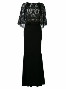 Talbot Runhof embroidered maxi dress - Black