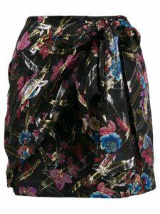 Pinko wrap style skirt - Black