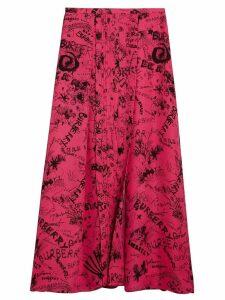 Burberry doodle print skirt - Pink