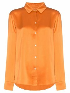 Asceno silk pyjama shirt - Orange