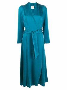 Forte Forte belted wrap dress - Blue