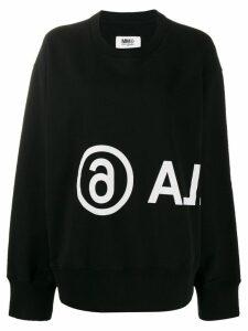 Mm6 Maison Margiela printed sweatshirt - Black