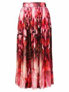 Alexander McQueen printed flowing skirt - Pink
