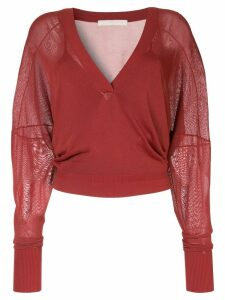 Dion Lee interlocks double knitted top - Red
