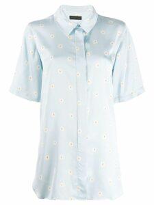 Stine Goya Zoey Daisy Oversized Shirt - Blue
